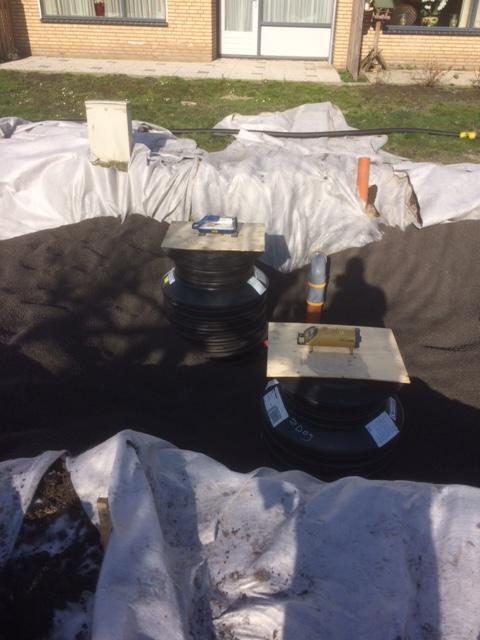 Rioleren met een licht gewicht opvul materiaal (agerex) voor de Bunnik Groep