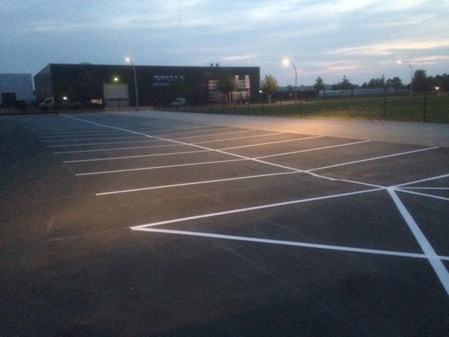 Realisatie nieuw parkeerterrein voor Jos America B.V. in Nieuwcuijk
